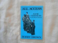 New Edition 1989 concert Laminated All Access Pass Heart Break Tour Bobby Brown