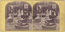 Expo universelle de Paris 1867 Sculpture italienne Stéréo Vintage albumine