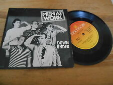 """7"""" Pop Men At Work - Down Under / Who Can It Be Now (2 Song) CBS REC / BRASIL"""