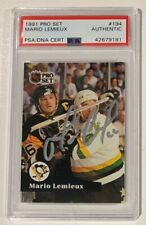 Mario Lemieux Autographed 1991 Pro Set Hockey Card PSA DNA Signed Auto