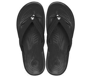 NEW - Crocs Crocband Flip Flop Black Unisex Thong Sandal Size Men - 6 Women -8