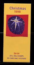 Q139 Australia 1998 Christmas Magi Nativity Complete Booklet Mnh