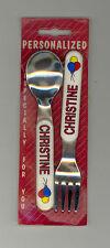 Personalized Fork & Spoon Set ~ CHRISTINE ~ Stocking Stuffer ~ Balloons ~ Gift