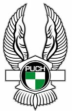 PUCH WINGS stickers x2 classic scooter motorcycle 60mm