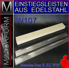 Mercedes sl SLC 107 w107 einstiegsleisten barras de entrada schwellerabdeckungen