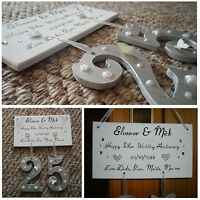 Personalised Happy Anniversary Wooden Plaque - Ideal Gift For The Perfect Couple