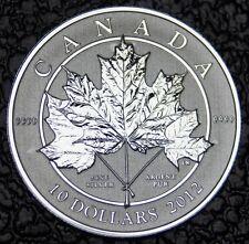 CANADIAN GEM 2012 -10 DOLLARS -.9999 SILVER 1/2 oz-UHCameo-MAPLE LEAF-SCARCE-NCC