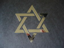 "Star of David in Chrome #2 Vinyl Window Laptop Decal Car Bumper Sticker 4"""