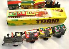 TRAIN CLOCK WORK IN LATTA E PLASTICA 28cm.TOYLAND MS203 LOCOMOTIVA, TRENO