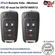 2 For 2010 2011 2012 2013 2014 2015 2016 Chevrolet Cruze Equinox Remote Key Fob Fits 2012 Chevrolet Cruze Lt