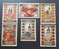 ALTENBURG NOTGELD 6x 50 PFENNIG 1921 EMERGENCY MONEY GERMANY BANKNOTES (7902)