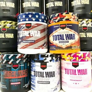 Redcon1 TOTAL WAR Pre Workout Insane Energy New Formula NEW FLAVORS! FREE SHIP