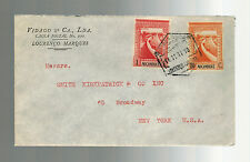 1941 Lorenzo Marques Mozambique Airmail cover to USA