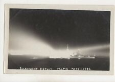 Searchlight Display Palma March 1925 Spain Vintage Photo 478b