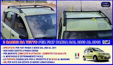 Barre da tetto Fiat Panda 2003-2011 portatutto portapacchi portabagagli 50 Kg 2b