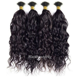 Brazilian Human Hair Bulk For Braiding Wet and Wavy Bulk Hair Extension 1bundle