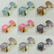 New Mens Womens Designer Fashion Colorful Oversize Sunglasses Shades Metal 1038