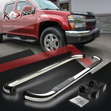 """3"""" Chrome Running Board Side Step Nerf Bar for 04-12 Colorado/GMC Canyon Ext Cab"""