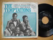 "TEMPTATIONS I Wish It Would Rain / I Truly Believe 45 7"" single 1967 Sweden"
