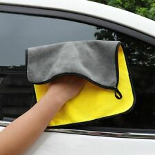 Car Cloth Wash Microfiber Towel Cleaning Drying Hemming Absorbent Coral Velvet