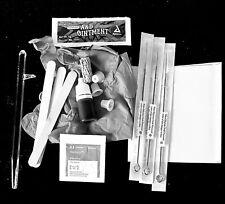 DIY Stick and Poke Tattoo starter kit, tattoo stick,  5 needles, ink Free Instru