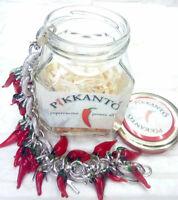 Rote Chilischoten Pikkantò Frau Halskette Made in Italy Glas und Metall UVP 83
