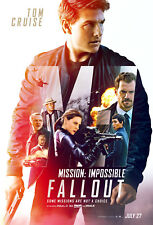 """MISSION IMPOSSIBLE FALLOUT 2018 Original DS 2 Sided 27x40"""" Movie Poster T Cruise"""
