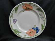 "Villeroy & Boch Amapola, Blue & Orange Flowers: Dinner Plate (s), 10 1/2"""