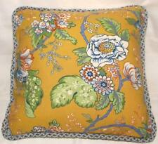 French Country Cottage Pillow Yellow Ivory Blue Green Fresh Farm Garden