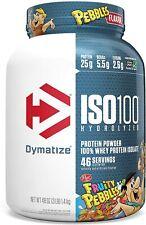 Dymatize ISO100 Hydrolyzed Protein Powder, 100% Whey, 3 Lbs, Fruity Pebbles