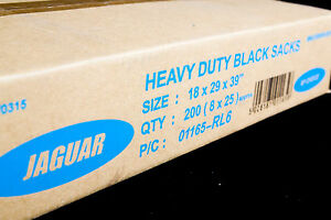 Heavy Duty Black Bin Bags Rubbish Refuse Sacks Rubbish Liners UK Made