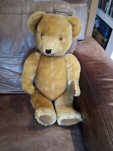 """VINTAGE DEANS CHILDS PLAY  23""""  """" GOLDIE """" THE  GROWLER  BEAR"""