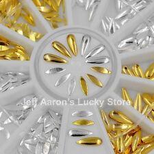 Mixed designs gold silver metal 3d nail art stud steering-wheel decoration tools