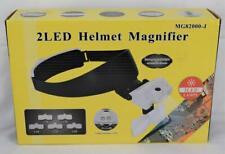 2 LED Helmet Magnifier w/5 Lenses MINT in box MIB Includes Batteries