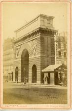 Maison Martinet, France, Paris, Porte St-Martin, ca. 1880, vintage albumen print