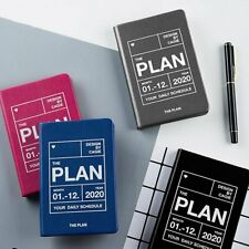 A7 2020 Plan Pu Notebook Hardcover Diary Journal Travel Business Schedules