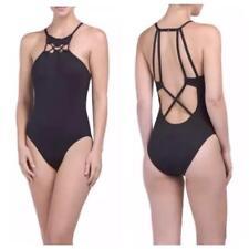 eecef5451d3c3 La Blanca Strap Black Halter Neck Swimsuit 12 Solid Tummy Control