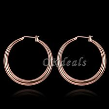 Anti Allergy Big Hoop Earrings18K Rose Gold Plated Fashion Jewelry For Women hnm