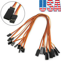10Pcs 150-500mm Servo Extension Lead Wire Cable For RC Futaba JR Male to Female