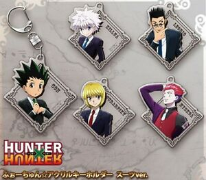 NEW Rare Hunter x Hunter Acrylic Key Holder Suits Ver. 5 Types Official Japan