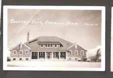 Vtg RPPC Postcard Country Club Carroll Iowa IA 1941