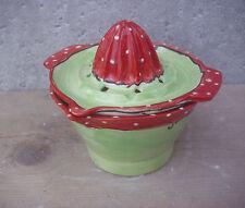 Zitruspresse mit Schale Zitronenpresse  Keramik im Dekor  erdbeere