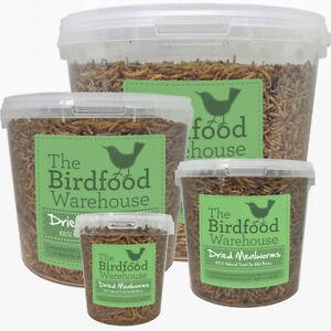 Norfolk Feeds Dried Mealworms - Premium Quality Wild Bird Food - Treat Tub, Worm
