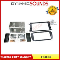 CT23FD10 Black Double Din CD Fascia Fitting Kit For Ford Focus 2007 - 2011