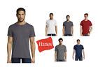 4 PACK of Hanes Pocket 100% soft Ringspun Nano- short sleeve T shirt- 498P