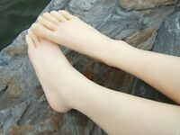 One Pair Silicone Lifesize Female Mannequin Leg Foot Model Shoes Display