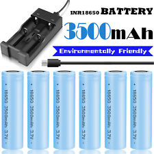 3500mAh 3.7V 18650 Battery Rechargeable Li-ion Flat Top High Drain /Dual Charger