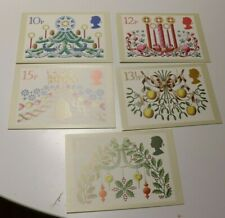 MINT 1980 GB CHRISTMAS PHQ MAXI CARD SET OF 5