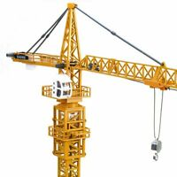 1:50 Diecast Tower Slewing Crane Construction Vehicle Car Models O Scale By KDW