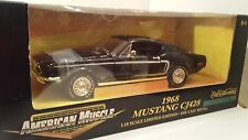 1:18 American Muscle 1968 Ford Mustang CJ428 Cobra Jet BLACK diecast car model